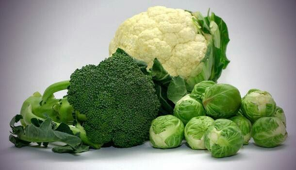 Broccoli, Brussels sprouts,  kale, cauliflower. ..different types of the same plant.