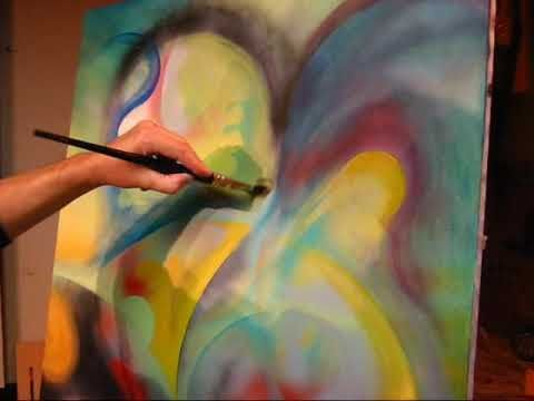 New abstract painting part 1 art tutorials pinterest for Abstract watercolor painting tutorial