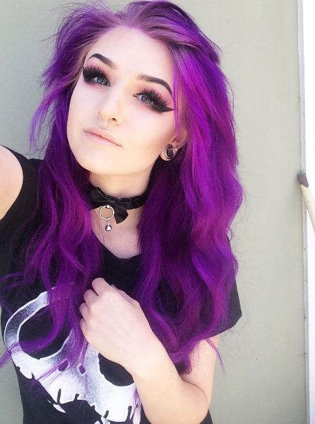 Purple hair tips tumblr