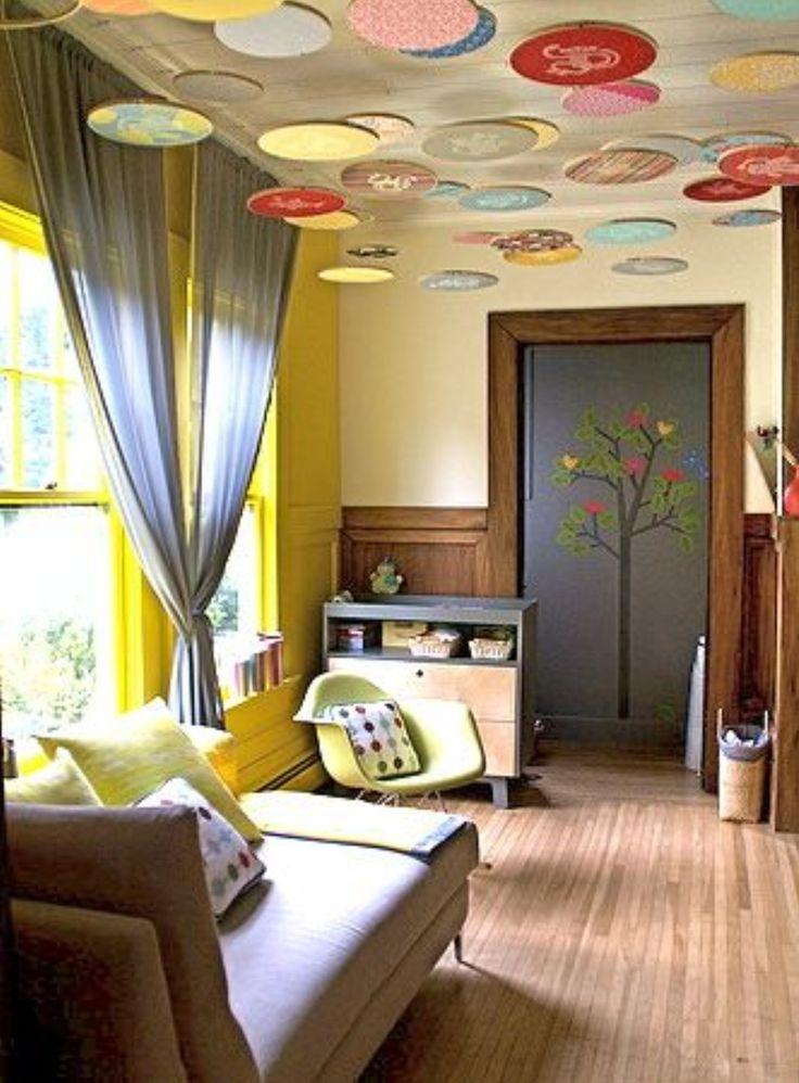 Дизайн потолка в комнате своими руками