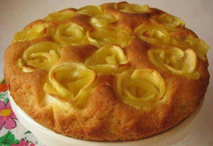 Бисквит из яблок рецепт