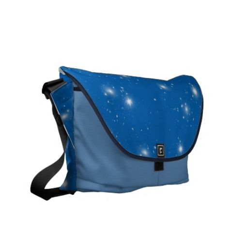 Night sky with stars messenger bag