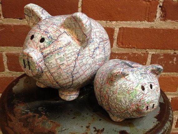 The original road trip fund ceramic piggy bank small for Travel fund piggy bank