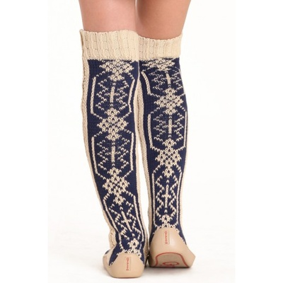 Gypsyz Snowflake Knitted Knee High Shoes | Knitting and more! | Pinte ...