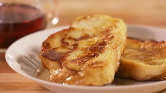 How to Make French Toast. 2 slices of bread. 1 egg. 1/4 cup milk. 1/2 ...