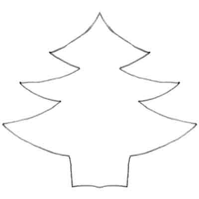 Plain Christmas Tree Coloring Pages Freecoloring4u Com Plain Tree Coloring Page
