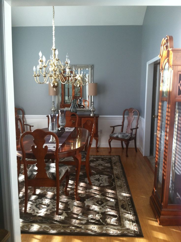 Traditional dining room in grey white misc pinterest for Traditional dining room pinterest