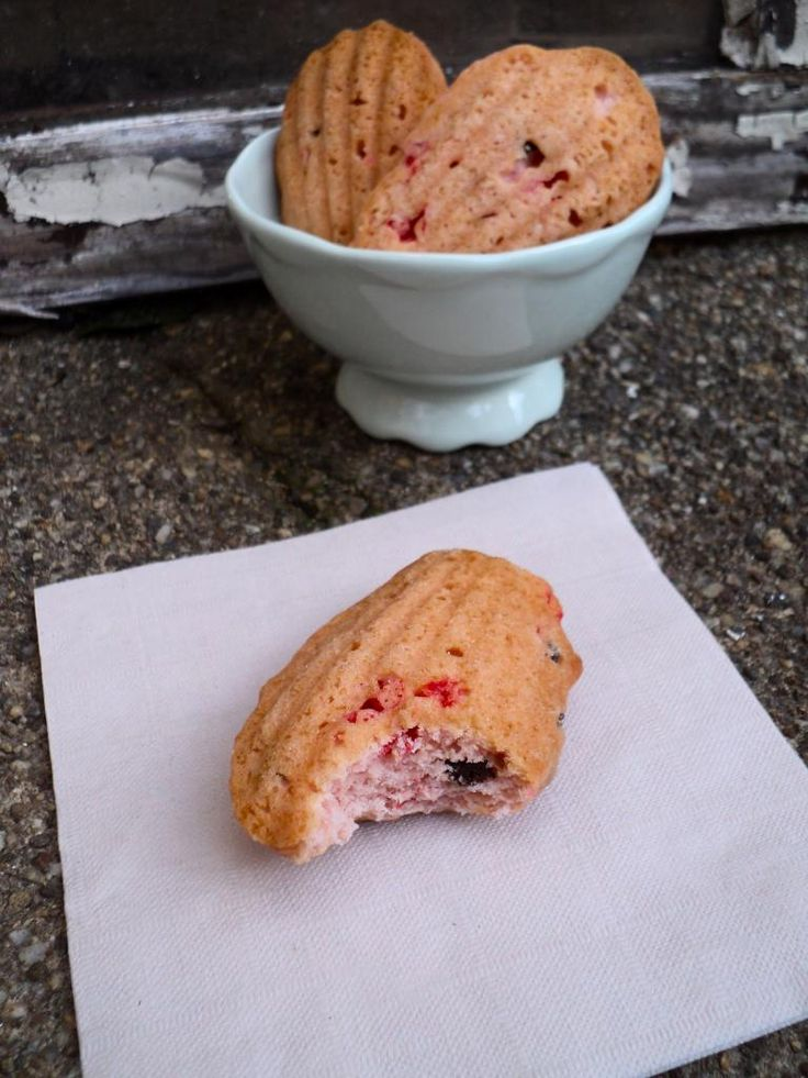 leaves and flours : vegan cherry chocolate chip madeleines