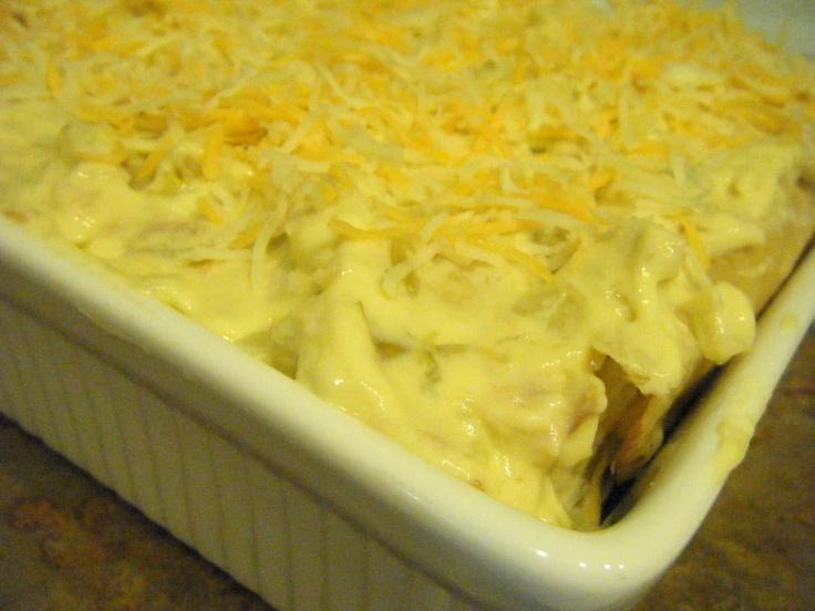 Chicken Enchiladas with sour cream sauce | Food | Pinterest