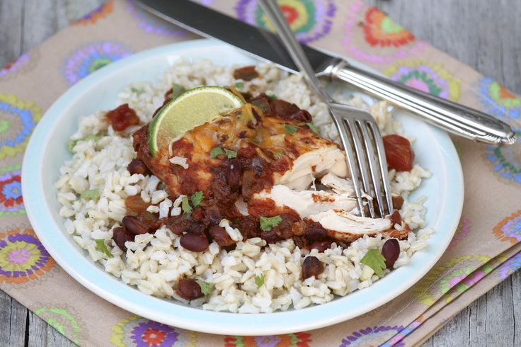 Healthy Slow Cooker Cilantro Lime Chicken takes minutes to prep and ...