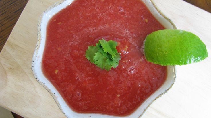 Watermelon Gazpacho | Soup! | Pinterest