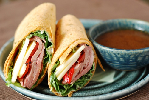 creole roast beef wraps (and a great recipe for creole sauce)