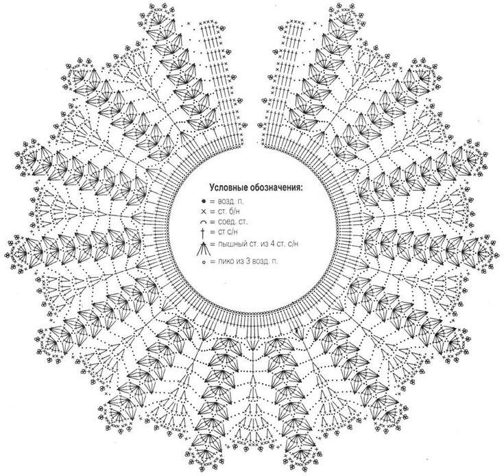 Схемы вязания воротничков крючком с описанием и схемами фото 46