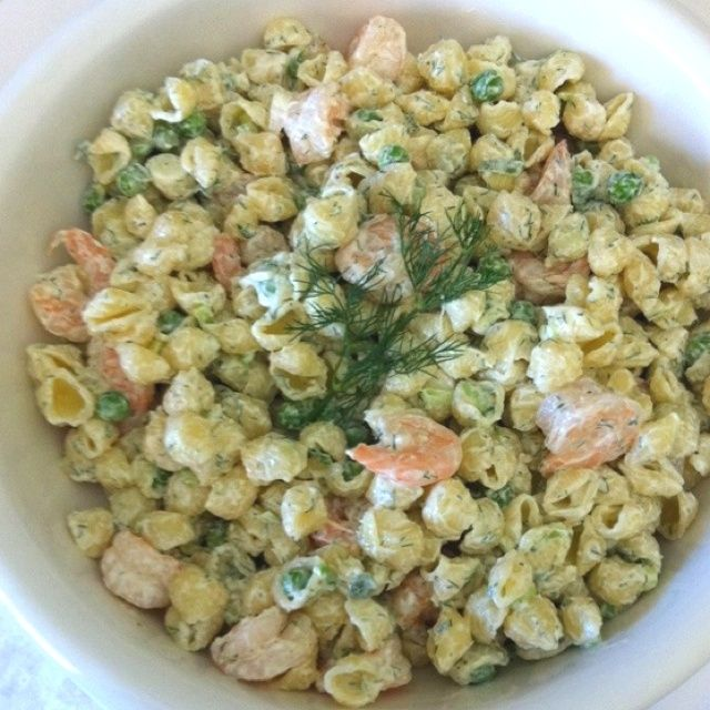 Summer shrimp pasta salad recipes prom ideas pinterest for Prawn and pasta salad recipes