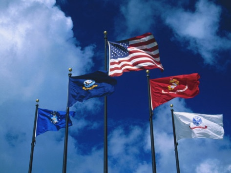 military flags and banners
