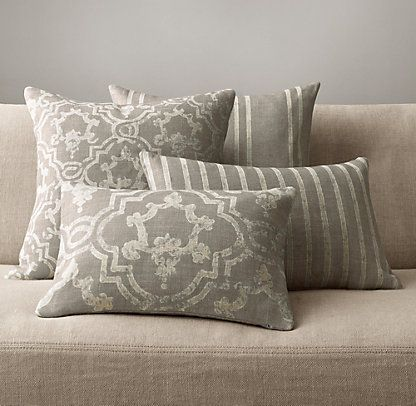 Decorative Pillows Restoration Hardware : Pillows & Throws Restoration Hardware Livingroom Pinterest