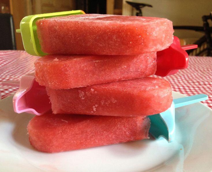 Peach & Strawberry Popsicles Recipe — Dishmaps