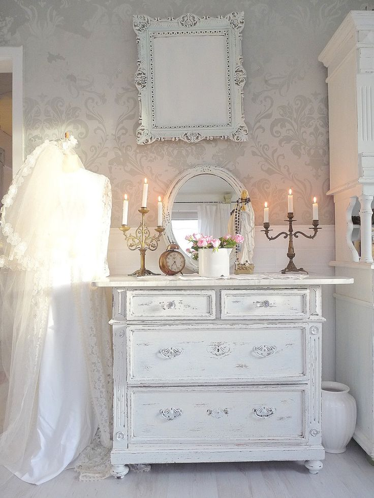 shabby chic white painted dresser addie grey pinterest. Black Bedroom Furniture Sets. Home Design Ideas