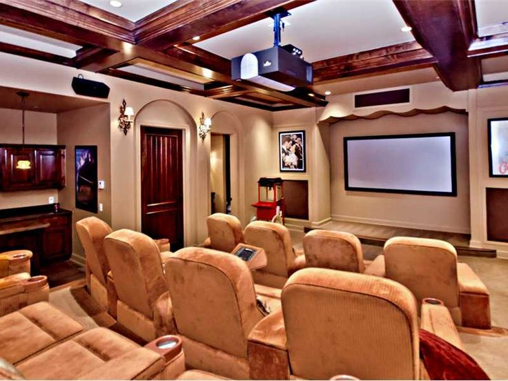 A luxurious home theater, perfect for catching up on the latest block busters.  Bentonville, AR $3,449,000