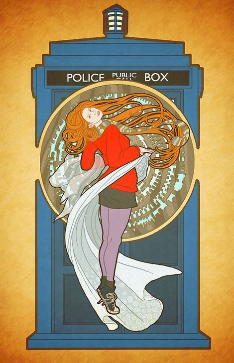 Art nouveau Amy Pond.
