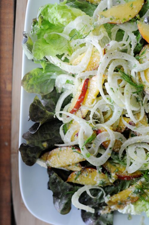 Fennel and nectarine slaw salad | Low Country Boil | Pinterest