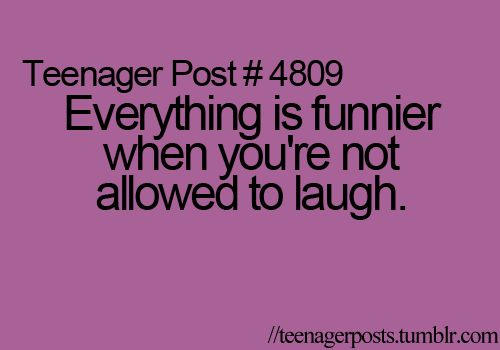 :) i totally agree, but why is it funnier? it's the exact same thing except you can't laugh! when you are allowed to laugh, you usually laugh for five seconds, but when you can't, you end up laughing for 5 minutes!!!!!!!!! why???????? :)