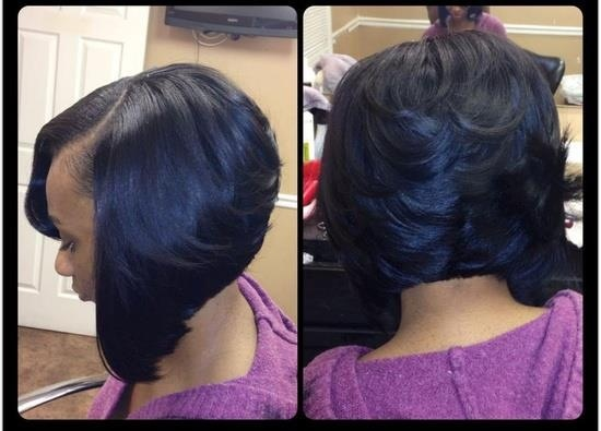 Feathered Bob Weave Hairstyles Feathered back bob