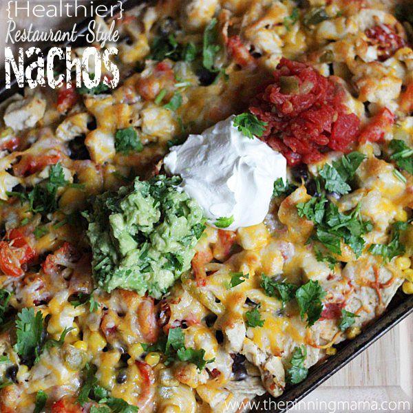 Healthier) Restaurant Style Nachos | Recipe