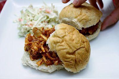 BBQ Chicken Sandwiches & Quick Cole Slaw