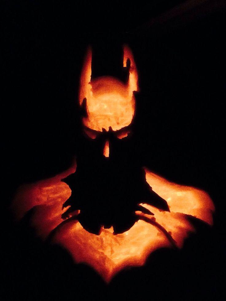 Batman pumpkin carving for halloween carvings
