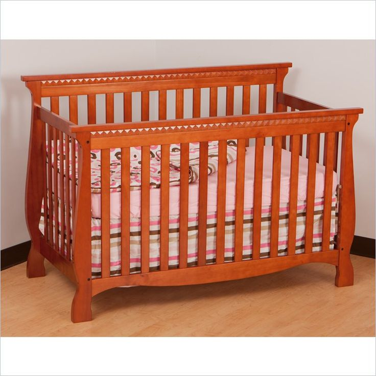 Stork Craft Venetian 4-in-1 Fixed Side Convertible Crib in Cognac ...