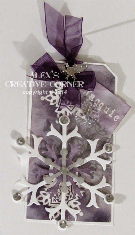 Alex's Creative Corner: Snowflake Christmas Tags