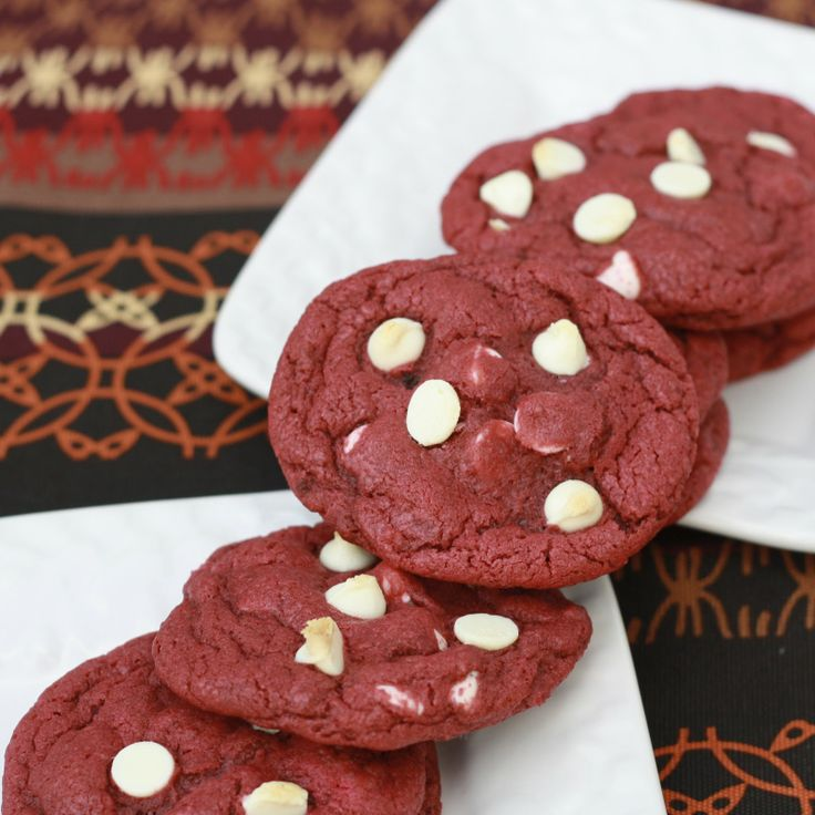 Red Velvet Cookies (uses 1 tablespoon red food coloring!)