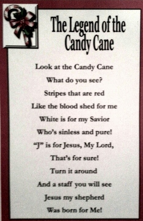 The legend of the candy cane christmas ideas pinterest