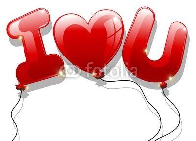 """""""I Love You"""" Balloons © bluedarkat"""