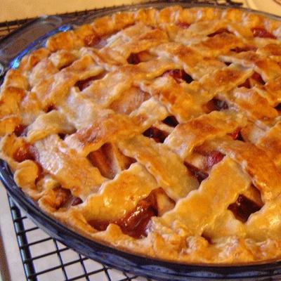 Apple Cranberry Pie Recipe   recipes   Pinterest