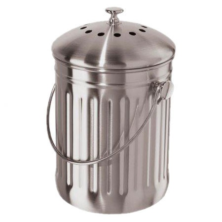 Stainless Steel Countertop Compost Pail Kitchen Essentials Pinte