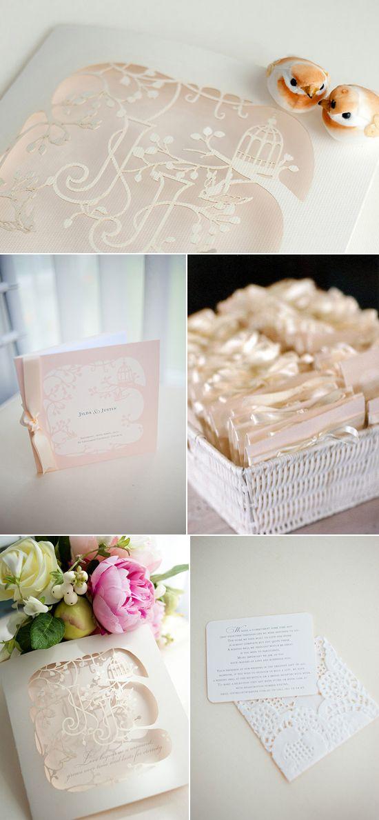 DIY-WEDDING INVITATIONS-laser cut garden wedding invitation Creative Wedding Stationery + more ideas