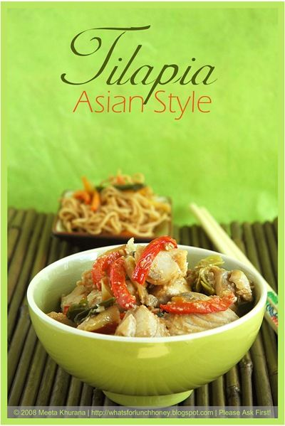 Asian Style Tilapia (01) by MeetaK | Seafood Dinners | Pinterest