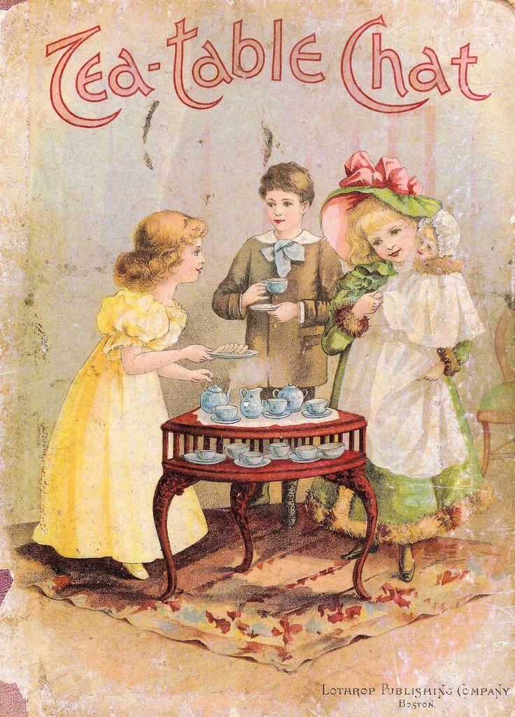 Vintage tea-table chat