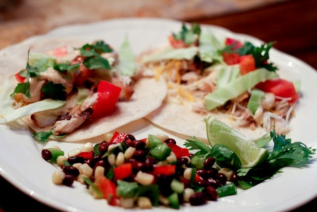 Grilled Fish Tacos with Black Bean & Corn Salad