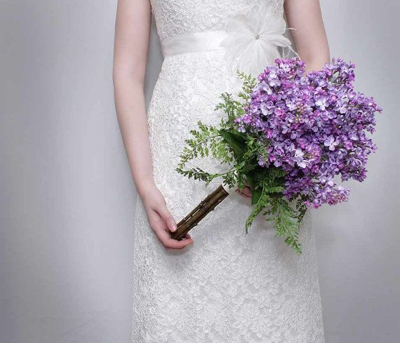 Bridal Bouquet Lilac Lavender Purple Silk Wedding Flowers