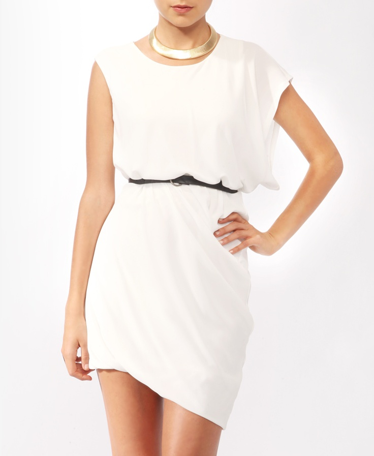 Asymmetrical Bubble Hem Dress