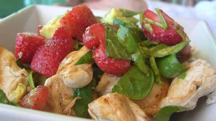 strawberry spinach salads