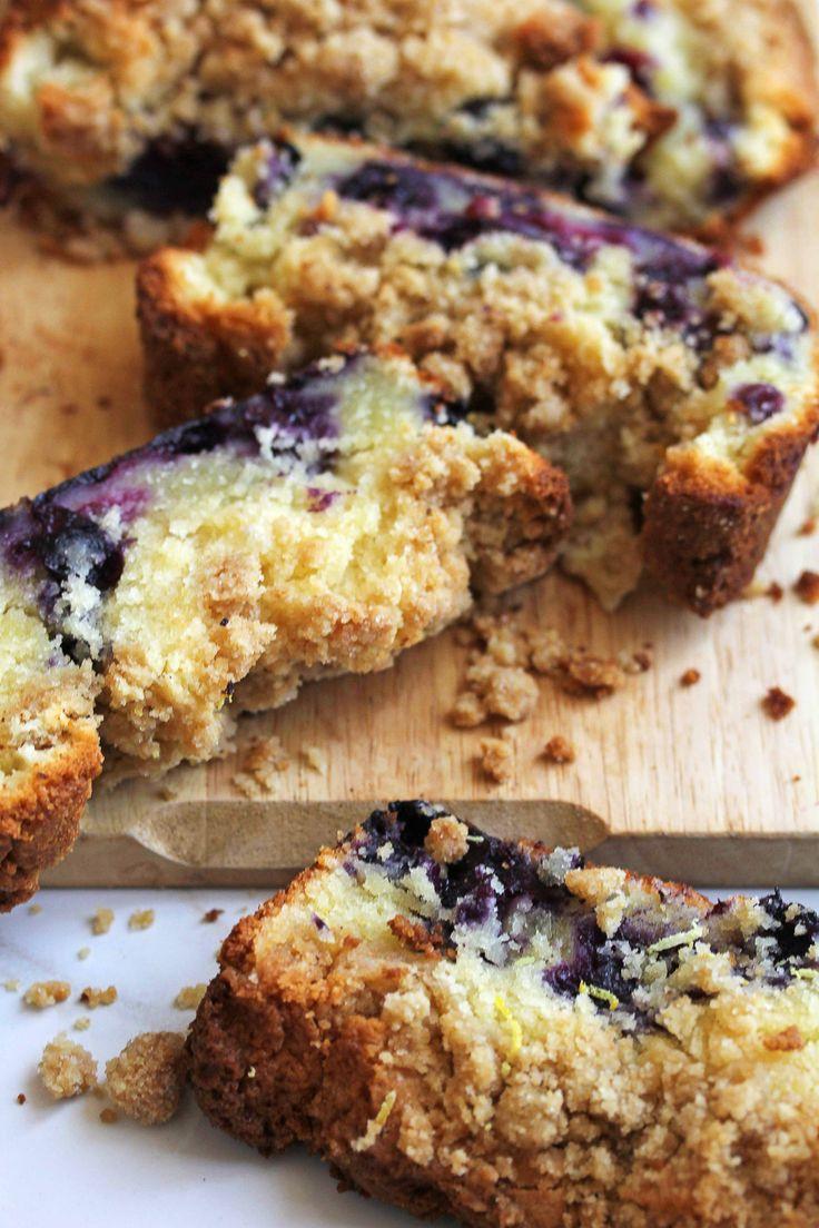 Lemon Blueberry Coffee Cake - Grandbaby Cakes