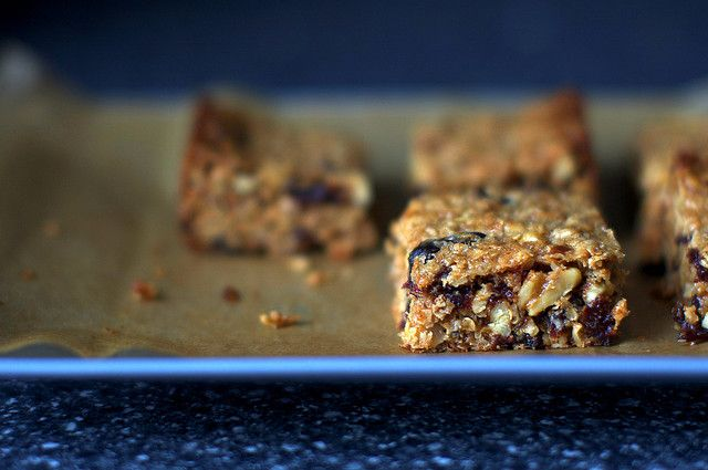 thick, chewy granola bars by smitten   breakfast   Pinterest