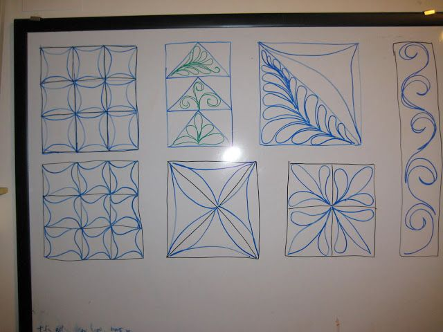 Free Motion Quilting Patterns Pinterest : Free Motion Quilting designs Crafts Pinterest