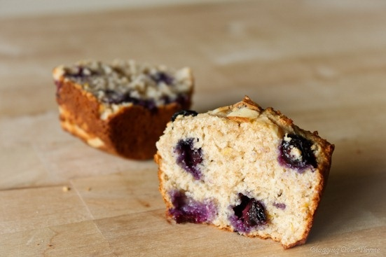 No-Guilt Blueberry Almond Muffins - Home - Blogging Over Thyme