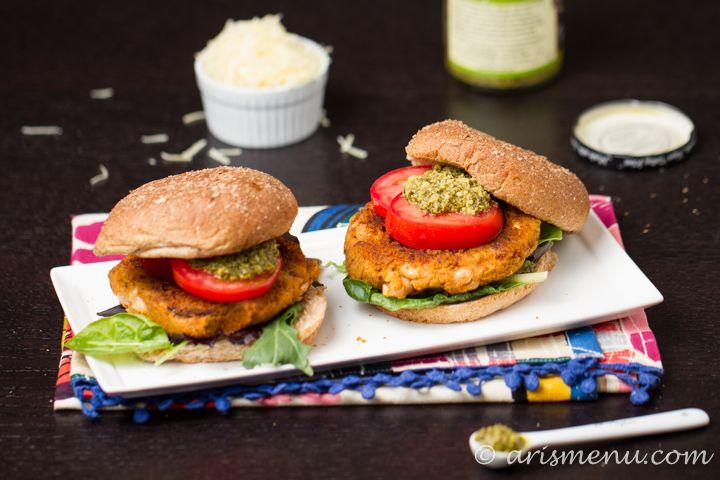 Sun-dried Tomato & Basil White Bean Burgers #vegan #glutenfree via ...