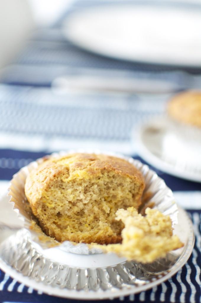 Sugar Free Mango Chestnut and Chick-Pea Muffins